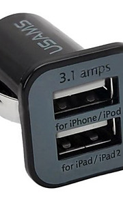 USB2.0 Auto USB-oplader Socket Anderen 2 USB-poorten Alleen oplader Automatisch 5V/3.1A