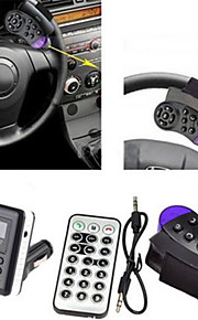 Multifunctional Car Bluetooth Hands - free MP3 Player Kit FM Transmitter/ Phone Charger with Aiming Circle