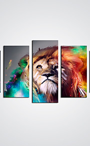 Canvas Print Abstract Lion Picture Modern Animal Canvas Art For Home Decoration