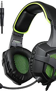 sades sa-807 3,5 mm gaming headsets met microfoon ruisonderdrukking muziek hoofdtelefoon zwart-blauw voor PS4 laptop pc mobiele telefoons