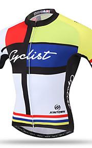 XINTOWN® Hombres Mangas cortas Bicicleta Transpirable Secado rápido Bolsillo trasero Reductor del Sudor Cómodo Tops TerilenoPrimavera