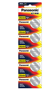 Panasonic botón CR2450 batería de litio de 3V Paquete de 5