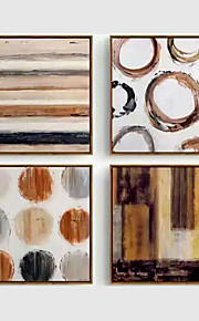Pintada a mano Abstracto Horizontal,Modern Cinco Paneles Lienzos Pintura al óleo pintada a colgar For Decoración hogareña