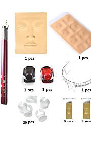 Microblading Permanent Makeup Eyebrow Tattoo Needle Pen Ink Practice Skin Kit BasekeyAB2