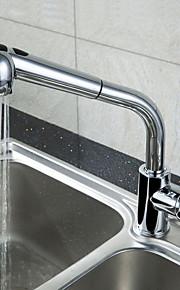 Nutida Konst Dekor / Retro Moderna Utdragbar / Pull-down standard Pip Hög Arc Centerset Termostatisk Regndusch Utdragbar dusch with