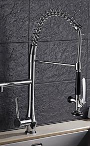 Nutida Konst Dekor / Retro Moderna Utdragbar / Pull-down Kärl brett spary Utdragbar dusch Roterbara with  Keramisk VentilSingel Handtag