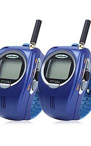 028 2pcs 22 canali in stile orologio da polso UHF walkie-talkie