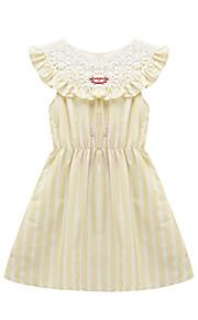 Mädchen Kleid Strand Gestreift Baumwolle Sommer Ärmellos