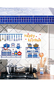 Lovely Tableware Kitchen Ceramic Tile Stickers Prevent Oil Stickers