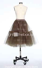 Slips Ball Gown Slip Short-Length 4 Tulle Netting White Black Red Blue Brown Beige