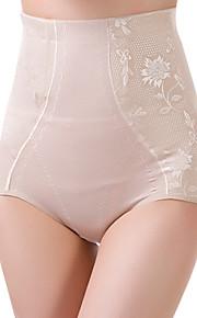 Women's Sexy Slimming High Waist Body Tummy Control Shaping Panties Nylon Spandex Female Underwear Beige