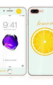 för den apple iphonen 7 4,7 härdat glas med mjuk kant full skärm täckning fram och bak skärmskydd citron mönster