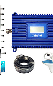 Lintratek 3G Repeater 2100 UMTS Mobile Repeater 70dB Gain Signal Booster LCD Display Amplifier 2100MHz Repeater Yagi Antenna Kit