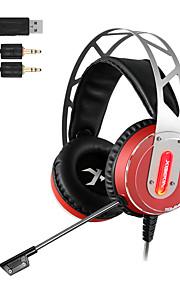 xiberia v12 gaming headset led licht computer super bass casque audio trillingen en gloed pc gamer hoofdtelefoon met microfoon