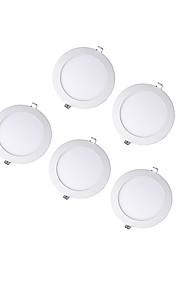 6W Round Dimmable LED Panel light 3000-4000-5000K SMD 2835  AC100-240V 5pcs