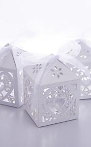 12 Pièce / Set Titulaire de Faveur-Cubique Papier nacre Boîtes à cadeaux