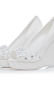 Femme-Mariage Habillé Soirée & Evénement-Blanc-Talon Compensé-Flower Girl Chaussures club de Chaussures-Chaussures à Talons-Matières