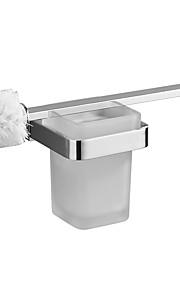 brass toilet brush holder chrome plated  simple style toilet brush bath hardware sanitary