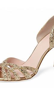 Femme-Mariage Habillé Soirée & Evénement-Or Argent-Talon Aiguille-D'Orsay & Deux Pièces club de Chaussures-Sandales-Similicuir