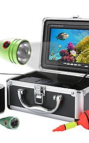 Bergon 50m 1000tvl onderwater vissen videocamera kit 6 stuks led verlichting met7 inch kleurenmonitor