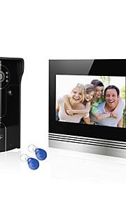 home-systemet kablet 7 video dørtelefon Porttelefon 1 skærm 1 RFID adgang kamera med brugerne kortet