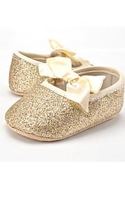 Enfants-Mariage Extérieure Habillé Décontracté Soirée & Evénement-Or Argent Champagne-Talon Plat-Premières Chaussures-Ballerines-