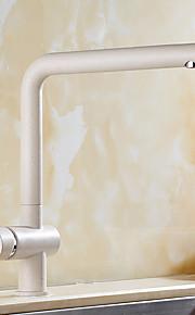 現代風 アールデコ調/レトロ風 近代の 標準スパウト 洗面ボウル 回転可 with  セラミックバルブ シングルハンドルつの穴 for  ペインティング , 水栓
