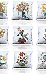 9 pcs Polyester Housse de coussin Taie d'oreiller,Solide Texturé Moderne/Contemporain Décontracté Traditionnel/Classique Plage Tropical