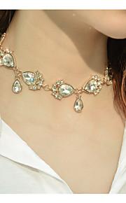 Damen Halsketten Strass Tropfen Strass Aleación Modisch individualisiert Euramerican Schmuck Für Besondere Anlässe Alltag Normal 1 Stücke