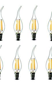 4.5W E14 Ampoules Bougies LED CA35 6 COB 500 lm Blanc Chaud Décorative AC 100-240 V 8 pièces