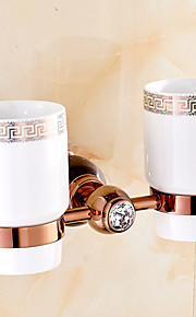 European Style Solid Brass Crystal Gold Bathroom Shelf Bathroom Toothbrush Holder Bathroom Accessories