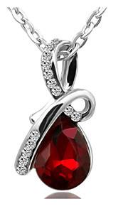Damen Paar Halsketten Anhängerketten Ketten Imitation Diamant Tropfen Diamantimitate AleaciónBasis Einzigartiges Design Anhänger Stil