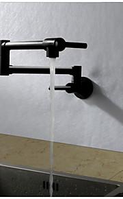 現代風 アールデコ調/レトロ風 近代の 標準スパウト トール/ハイアーク ポットフィラー 壁式 サーモスタットタイプ レインシャワー 回転可 with  セラミックバルブ シングルハンドルつの穴 for  ペインティング , 水栓