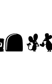 מדבקות קיר מדבקות קיר סגנון קריקטורה עכבר אהבה pvc מדבקות קיר