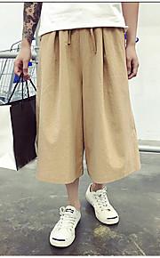 Heren Eenvoudig Medium taille Ruimvallend Inelastisch Shorts BroekEffen