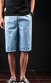 Herr Streetchic Stretchig Shorts Byxor,Mellanhög midja Smal Enfärgat