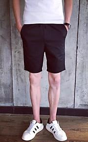 Herr Enkel Mikroelastisk Jeans Shorts Byxor,Låg midja Ledig Enfärgat