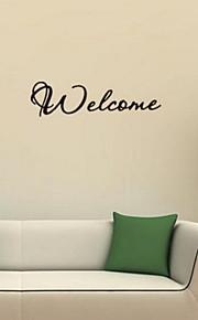 Слова и фразы Наклейки Простые наклейки Декоративные наклейки на стены,Винил материал Украшение дома Наклейка на стену