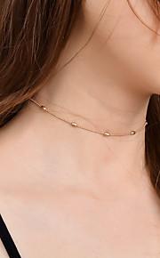 Damen Halsketten Schmuck Einzelkette Kupfer Aleación Modisch individualisiert Euramerican Simple Style Schmuck FürParty Besondere Anlässe