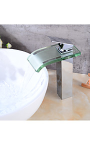 Centersat Foss with  Keramisk Ventil Et Hull for  galvanisert , Baderom Sink Tappekran