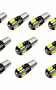 10pcs h6w bax9s canbus 8smd 5730 decode indicator lamp lamp licht leeslamp dc12v wit