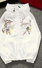 남성 프린트 후디 긴 소매 자켓,캐쥬얼 일상 보통 폴리에스테르 봄 여름