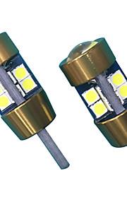 10w lens ontwerp t10 can-bus led lamp wit kleur (2 stuks)