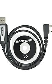 Professionele usb-kabel met cd baofeng uv-5r uv-5ra uv-b5 uv-82 bf-888s bf-666s voor draagbare radio