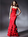 Prom/Military Ball/Formal Evening Dress - Ruby Plus Sizes Trumpet/Mermaid Strapless/Sweetheart Floor-length Taffeta