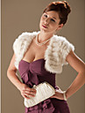 mangas curtas Rabbit Fur ocasiao especial jaqueta noite / encolher envoltorio bolero