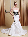 Lanting Bride® Sereia Pequeno / Tamanhos Grandes Vestido de Noiva - Classico e atemporal / Elegante e Luxuoso Vestidos Noiva de CorCauda