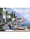 handmålade landskapet oljemålning med sträckt ram