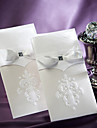 Sample Vintage White Flor-de-lis Wedding Invitation With Insert (One Set)