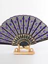 """Mătase Ventilatoare și umbrele de soare-# Piece / Set Ventilatoare de Mână Temă Grădină Temă Asiatică Liliac Mâner16 1/2""""x9""""x"""
